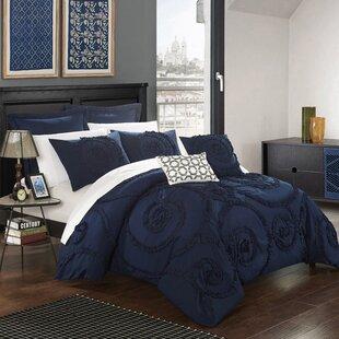 Nata 7 Piece Solid Comforter Set