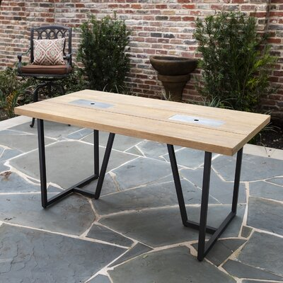 Veda Solid Wood Dining Table by Brayden Studio Spacial Price