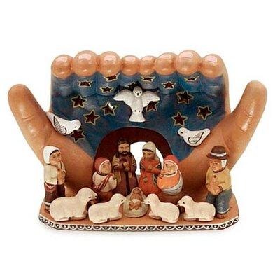 Novica Worship the Lord Ceramic Nativity Set