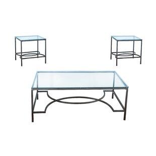 Read Reviews Botelho 3 Piece Occasional Coffee Table Set ByHouse of Hampton