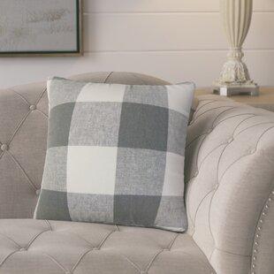 Porath Plaid Linen Throw Pillow (Set of 2)