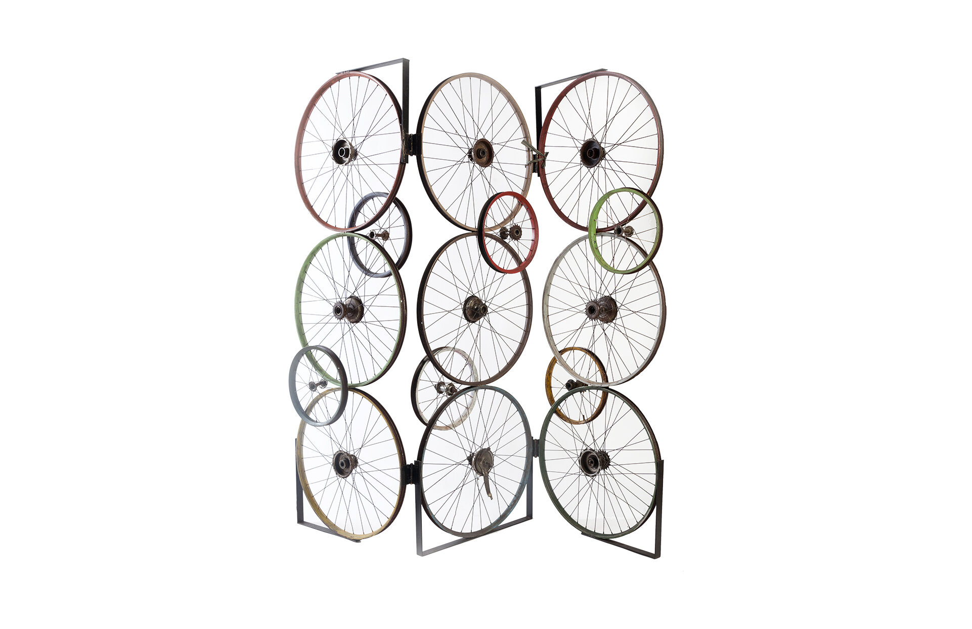 Phillips Collection Bicycle Wheel Screen Edging 3 Panel 6ft Room Divider Wayfair