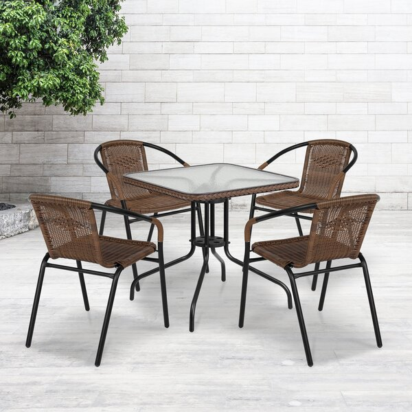 Willa Arlo Interiors Adrik 5 Piece Dining Set Reviews Wayfair