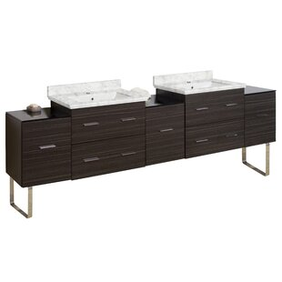 Xena Plywood-Melamine 88 Double Bathroom Vanity Base by American Imaginations
