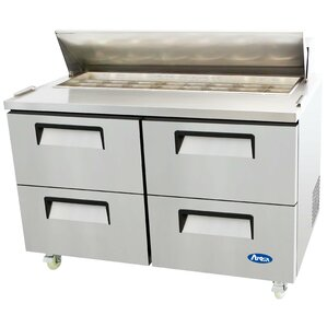 Refrigerated Four-Drawer Sandwich Prep Table by Atosa