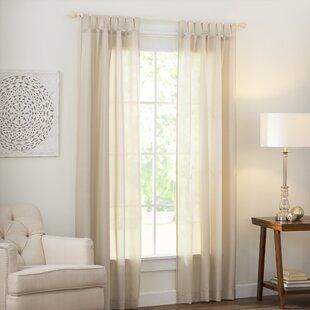 Wayfair Basics Solid Semi Sheer Tab Top Single Curtain Panel