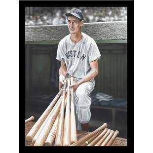 'Ted Williams on Deck' Print Poster by Darryl Vlasak Framed Memorabilia by Buy Art For Less