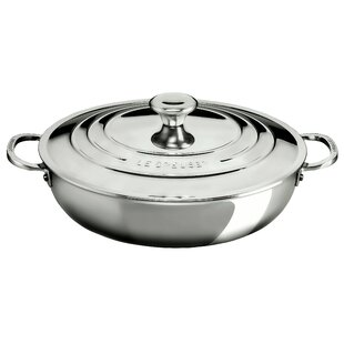 Stainless Steel 5 Qt. Round Braiser with Lid