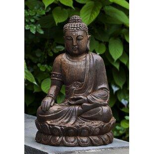 Campania International Antique Lotus Buddha Statue