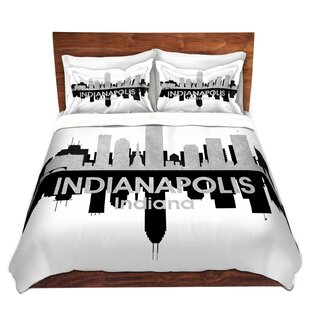 East Urban Home City IV Indianapolis Indiana Duvet Set