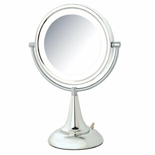 Affordable LED Lighted Table Top Mirror By Symple Stuff