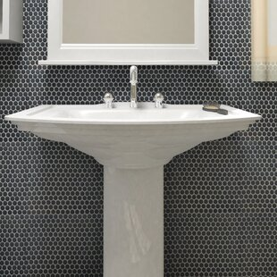 "Penny 0.8"" x 0.8"" Porcelain Mosaic Tile in Matte Black"
