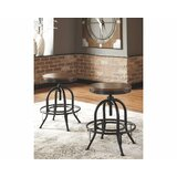 Quintara Swivel Adjustable Height Bar & Counter Stool (Set of 2) by Williston Forge