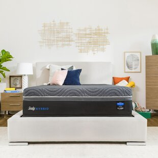 Hybrid Premium Silver Chill 14 Firm Mattress with 5 Low Profile Foundation Set by Sealy