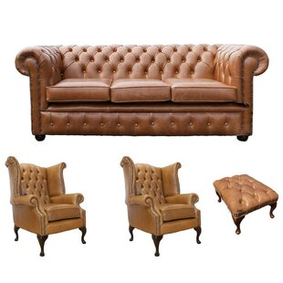 Chesterfield 4 Piece Leather Sofa Set By Winchester Leather Ltd