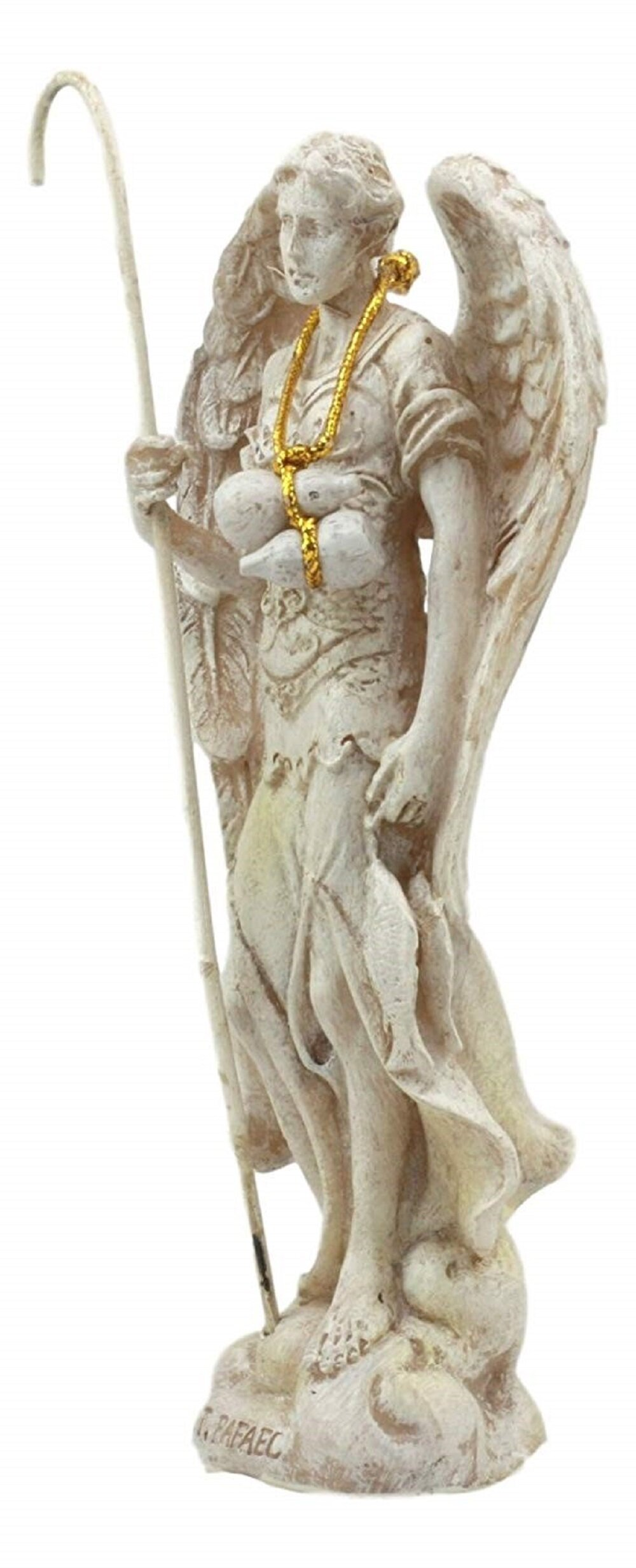 Astoria Grand Tafolla Colored Holy Archangel Saint Raphael With Staff And Annointing Oil Figurine Wayfair