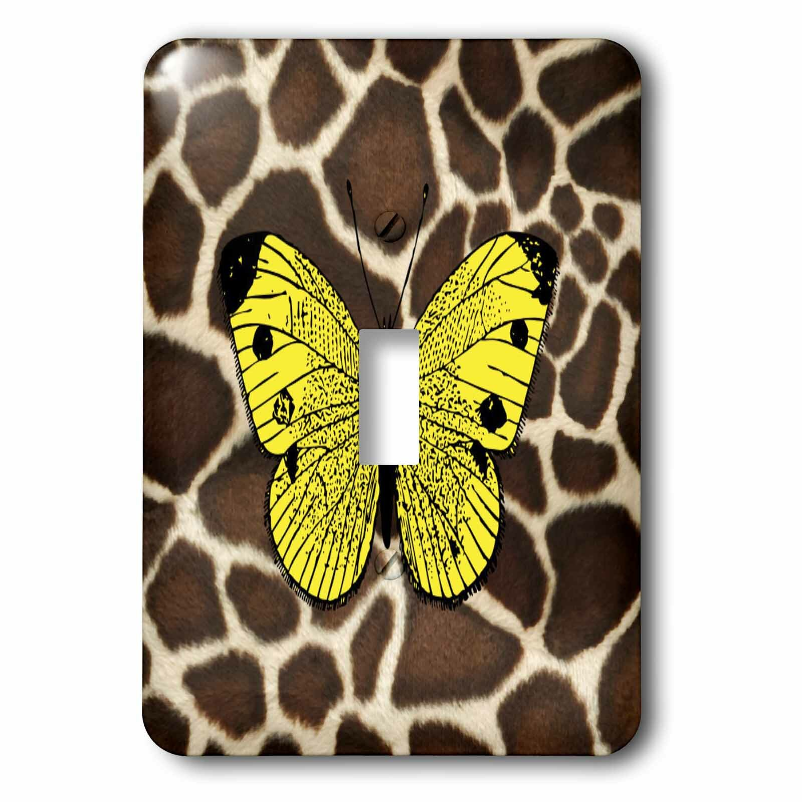 3drose Butterfly On Giraffe 1 Gang Toggle Light Switch Wall Plate Wayfair