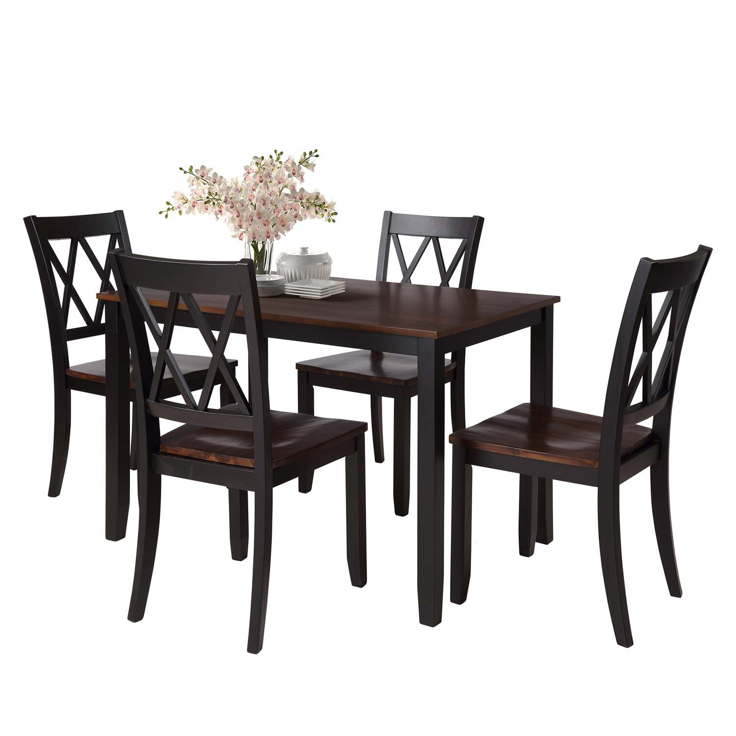 Red Barrel Studio 5-Piece Dining Table Set Home Kitchen Table And