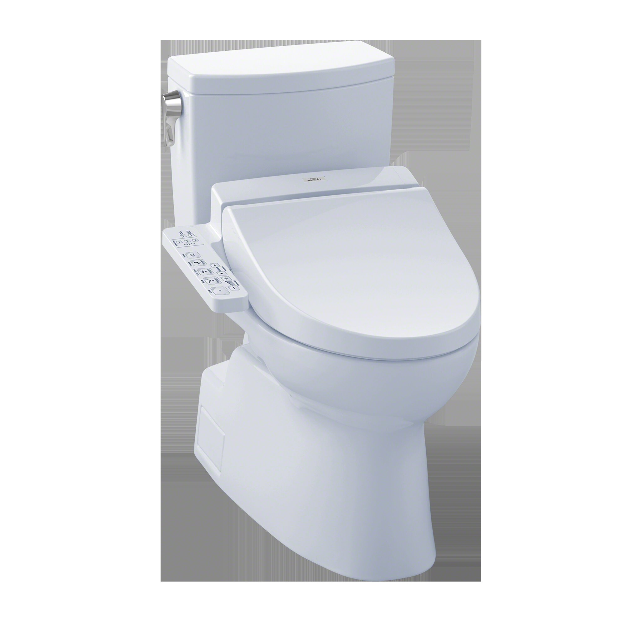 Pleasant Vespin Ii 1 0 Gpf Elongated Two Piece Toilet With C100 Electronic Bidet Seat Squirreltailoven Fun Painted Chair Ideas Images Squirreltailovenorg