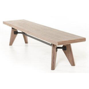 Lipscomb Wood Bench by Brayden Studio