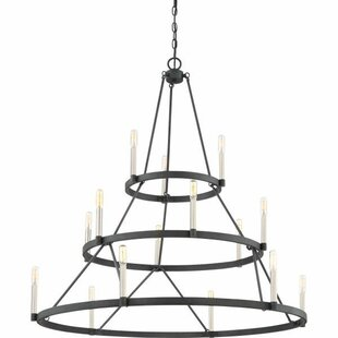 Lopes 15-Light Wagon Wheel Chandelier by Union Rustic