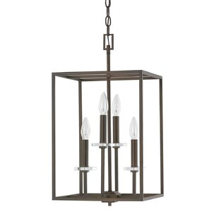 Malcolm 4-Light Square/Rectangle Pendant by Latitude Run