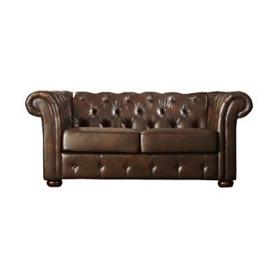 Read Reviews Vegard Tufted Chesterfield Faux Leather Loveseat by Willa Arlo Interiors Reviews (2019) & Buyer's Guide