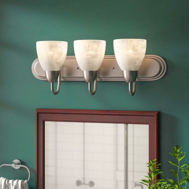 Charlton Home Jefferson 3 Light Vanity Light Reviews Wayfair