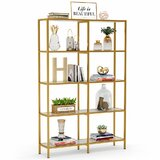 Belanger 70.8'' H x 47.2'' W Metal Etagere Bookcase by Everly Quinn