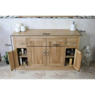 Solid Beech Eros 1230mm Free-standing Double Vanity By August Grove