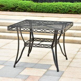 Oak Bluffs Iron Patio Dining Table by Fleur De Lis Living Purchase