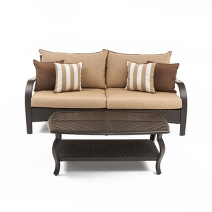 Cerralvo 2 Piece Sunbrella Sectional Set with Cushions by Sol 72 Outdoor