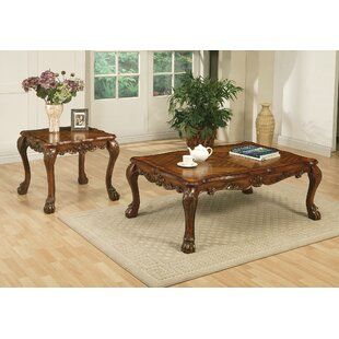 A&J Homes Studio Dresden 2 Piece Coffee Table Set