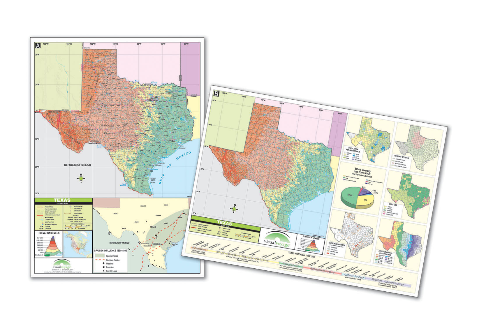 Thematic Map Of Texas.Universal Map Thematic Deskpad Map Texas Wayfair