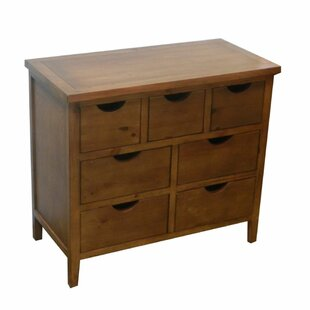 Oshields Chic 7 Drawer Accent Chest by Loon Peak