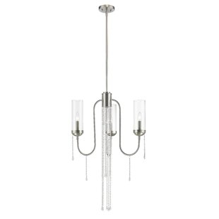 Mercer41 Liara 3-Light Shaded Chandelier