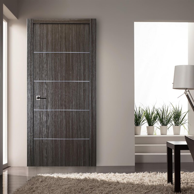 Belldinni Flush Solid Manufactured Wood Finish Palladio Standard Door Wayfair