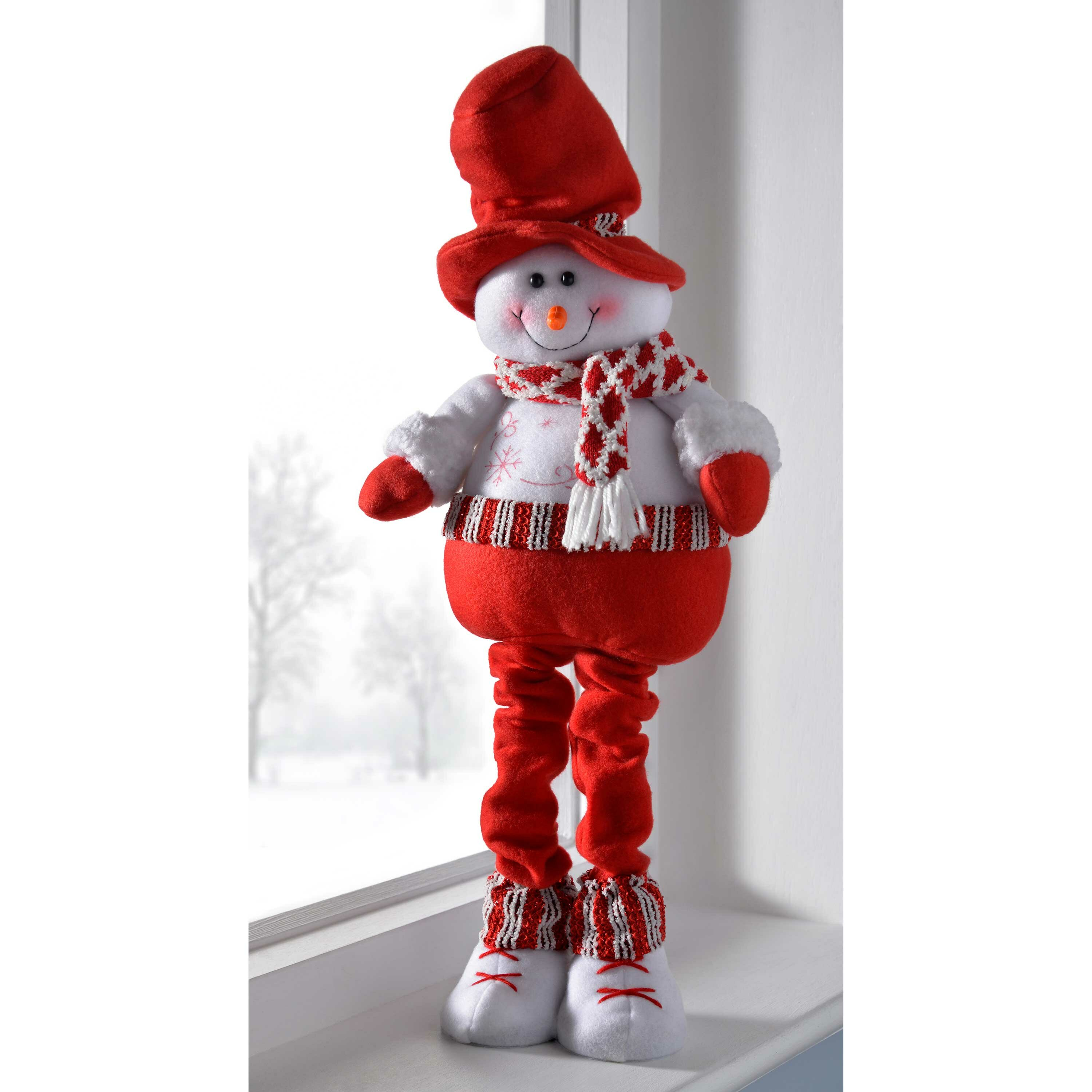 the seasonal aisle free standing christmas snowman decoration with extendable legs wayfaircouk