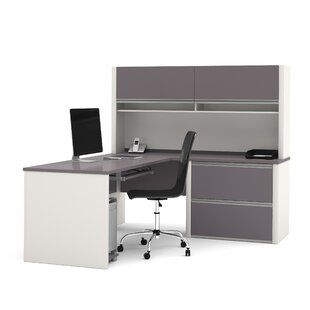 Aurea Reversible L-Shape Executive Desk with Hutch