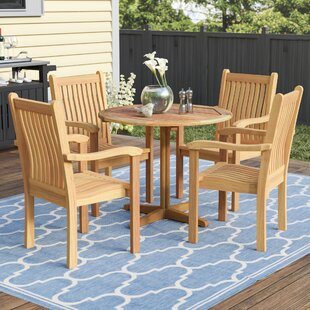 Red Barrel Studio Rossford 5 Piece Teak Dining Set