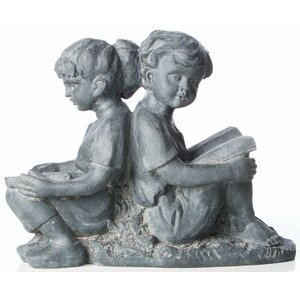 Children Reading Statue