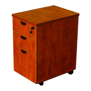 Parmer 3 Drawer Mobile Pedestal Box by Symple Stuff