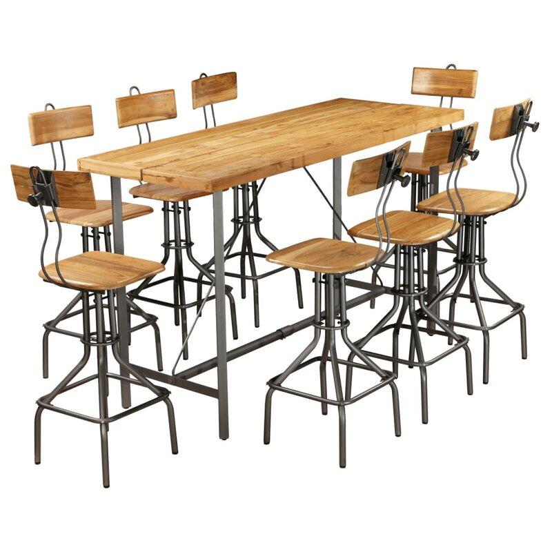 Williston Forge Essgruppe Panama mit 8 Stühlen