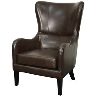 Union Rustic Thornley Bonded Leather Wing back chair