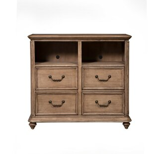 August Grove Iniguez Mahogany Wood 4 Drawer TV Media Chest
