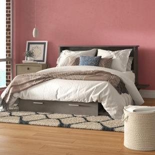 Hague Seaside Queen Storage Murphy Bed with Mattress