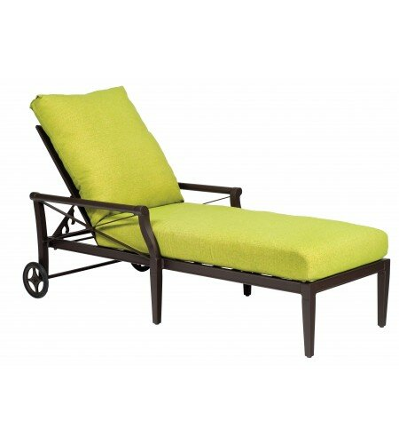 Woodard Andover 84 Long Reclining Single Chaise Lounge With Cushion Wayfair