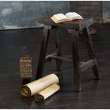 Delora Wooden Accent Stool by World Menagerie