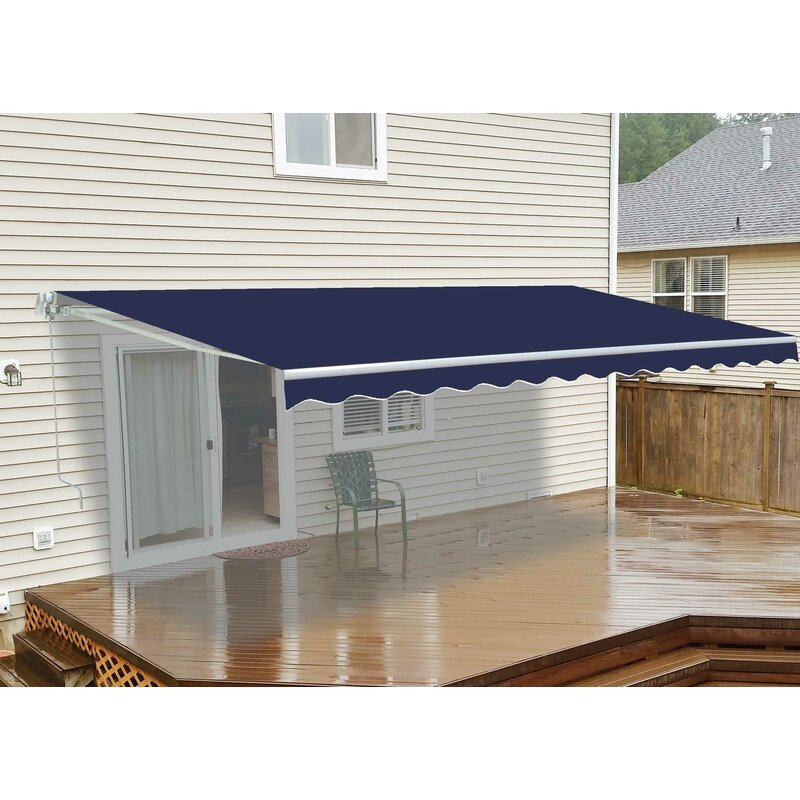 Aleko 10 W X 8 D Slope Patio Awning Reviews Wayfair