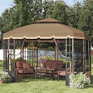 Mosquito Netting for 10' W x 12' D Bay Window Gazebo by Sunjoy